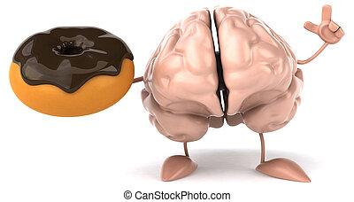 diversión, cerebro