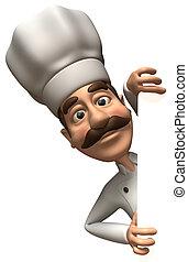 diversión, chef