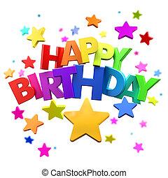 diversión, cumpleaños, feliz