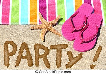 diversión, fiesta, viaje, concepto, playa