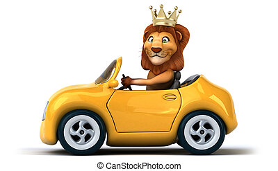 diversión, león