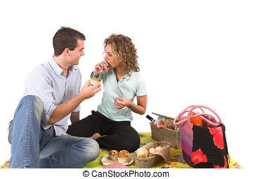 diversión, picnic