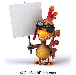 diversión, pollo
