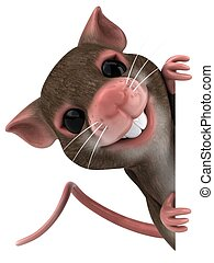 diversión, ratón