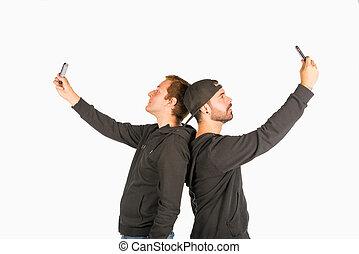diversión, selfie