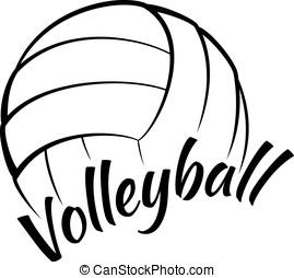 diversión, texto, voleibol