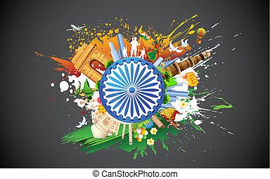 diversidad, de, india