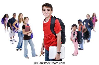 diversidad, en, escuela