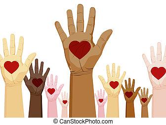 diversidad, manos