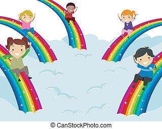 diversidade, arco-íris
