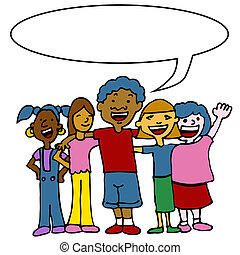diversidade, crianças