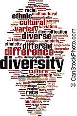 diversidade, palavra, nuvem