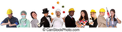 diversidade, trabalhadores