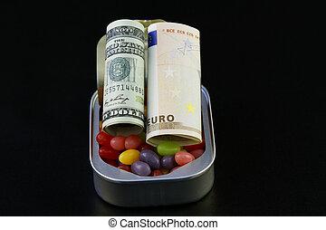 diversificação, sweetens, poupança