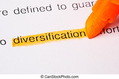 diversificación, palabra