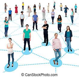 diversified, pessoas, networking