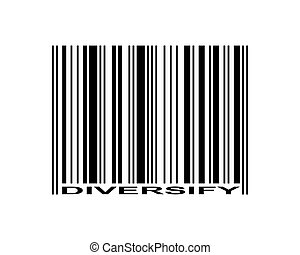 Diversify Barcode - Diversify word and barcode icon