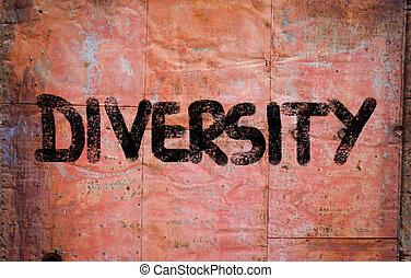diversité, concept