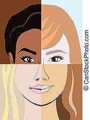 diversité, course, racial