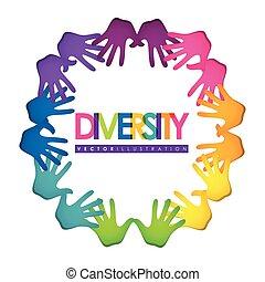 diversité, icône, conception