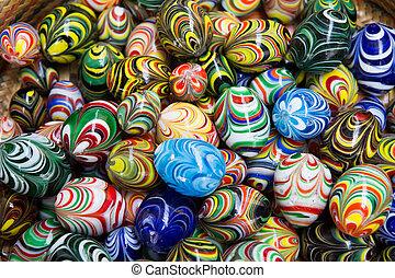 diversité, marbres, coloré, verre, fond, métaphore