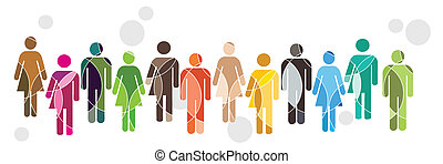 Diversity - A brightly coloured human diversity concept