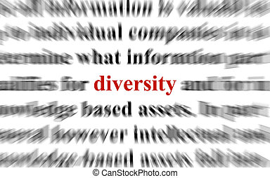 Diversity - a conceptual image representing a focus on the ...