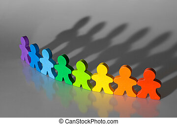 Diversity and Teamwork - Business concepts illustrated with...