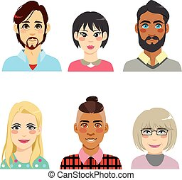 Diversity Avatar People