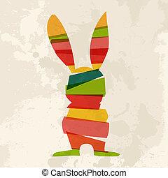 Diversity grunge Easter bunny