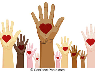 Diversity Hands - An image of a diverse set of hands with...
