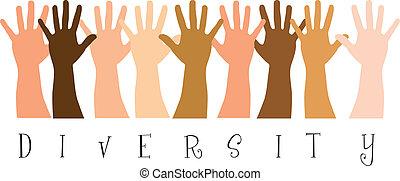 diversity hands - diversitty hands over white background....
