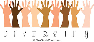 diversity hands - diversitty hands over white background. ...