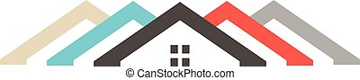 Diversity Houses logo. Vector graphic illustration