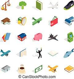 Diversity icons set, isometric style