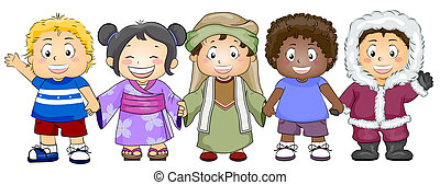 Diversity - Illustration Featuring Kids of Various Races and...