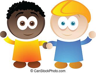 Diversity - A cartoon illustration depicting diversity