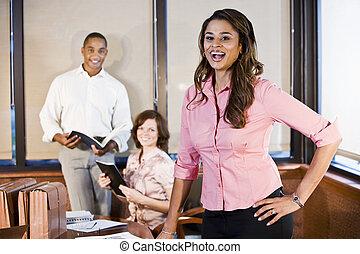 Diversity in workplace, boardroom meeting