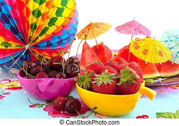 Diversity of fruit - Colorful summer fruit for the party...