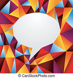Diversity origami speech bubble