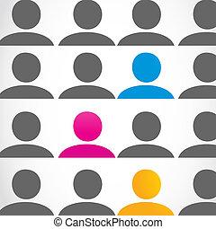 diversity people concept vector