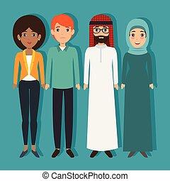 diversity people concept vector illustration graphic design