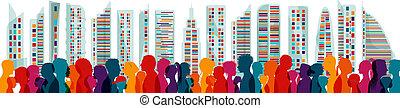 Diversity people. Population. Different multiethnic people ...