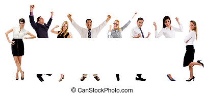 Diversity People with banner on white background