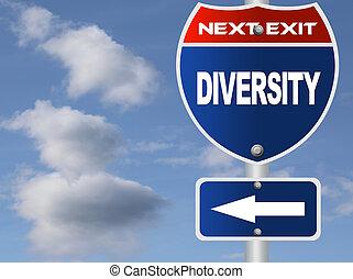 Diversity road sign