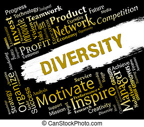 Diversity Words Indicate Difference Diversity And Variety