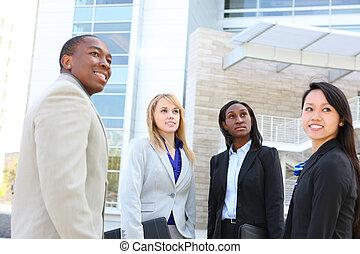 diverso, étnico, equipo negocio