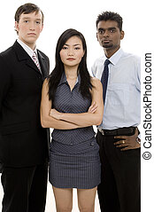 diverso, equipe negócio, 3