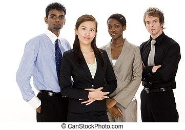 diverso, equipo negocio