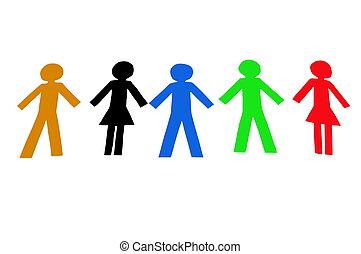 diverso, gente